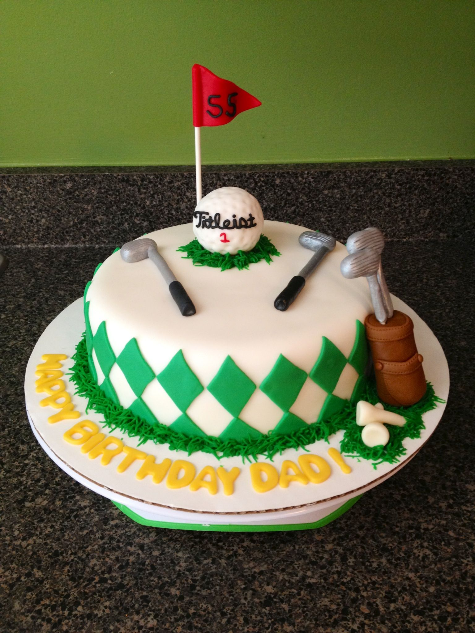 Golf Birthday Cake Cakes By Bri