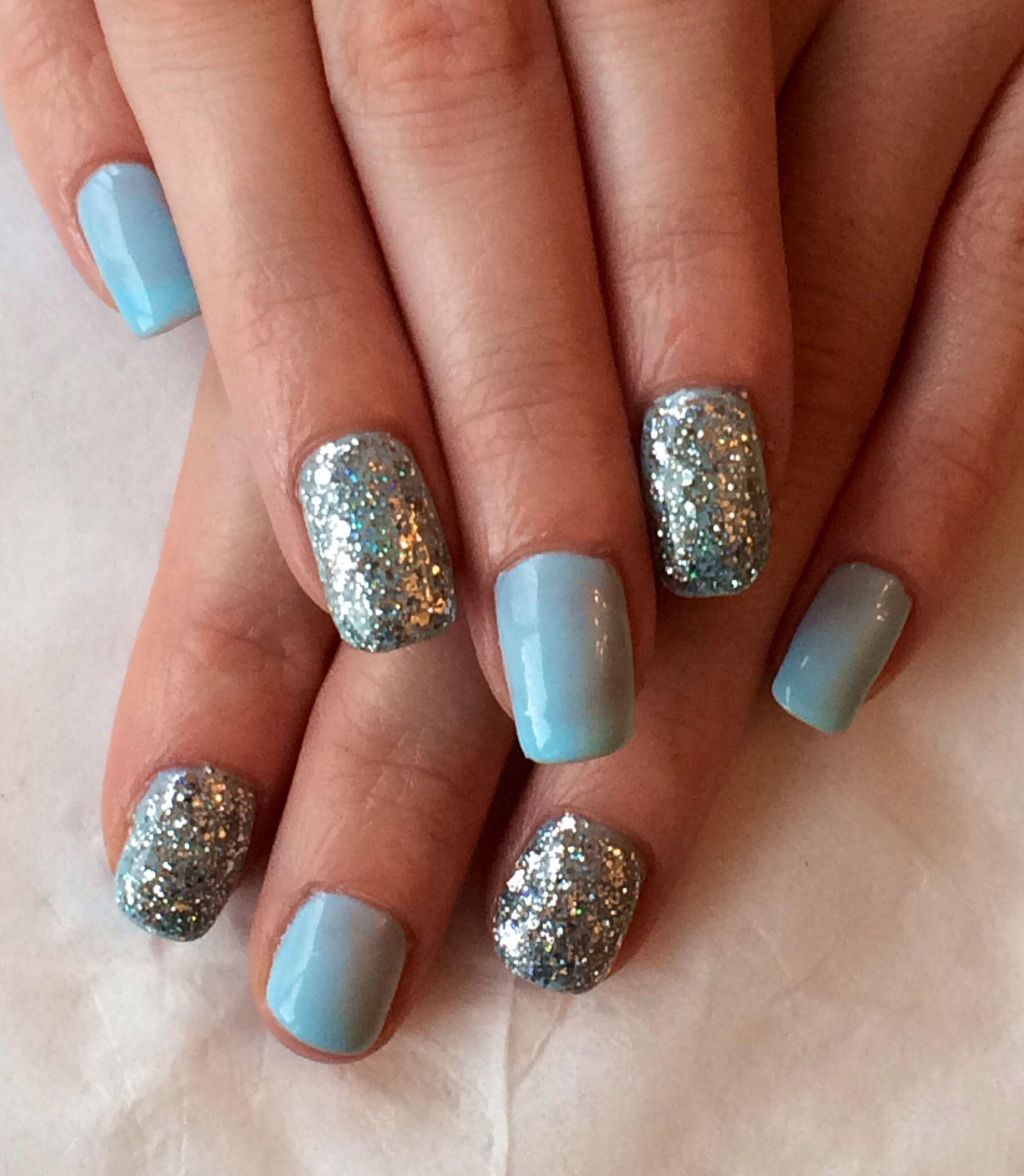 Cinderella Inspired Nail Art: Cinderella Inspired Nails #gelish #myonebluelove