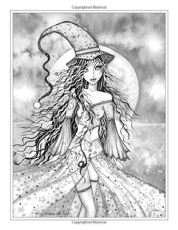 Autumn Magic Grayscale Coloring Book Autumn Fairies Witches And More Molly Grayscale Coloring Books Grayscale Coloring Fairy Coloring Pages