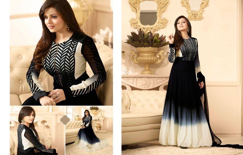 Awesome #Black and Cream Salwar Kameez #madhubala, #drashtidhami, #designersuitscollection, #wholesalesuppliers, #wholesalesellers, #Tvserialactress
