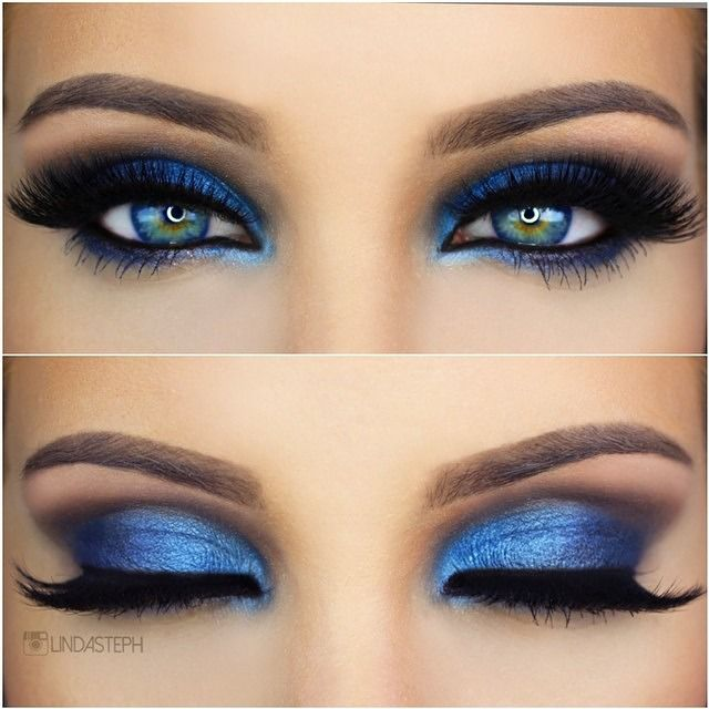 Blue Smokey Eye | Blue smokey eye, Smokey eye makeup and Makeup