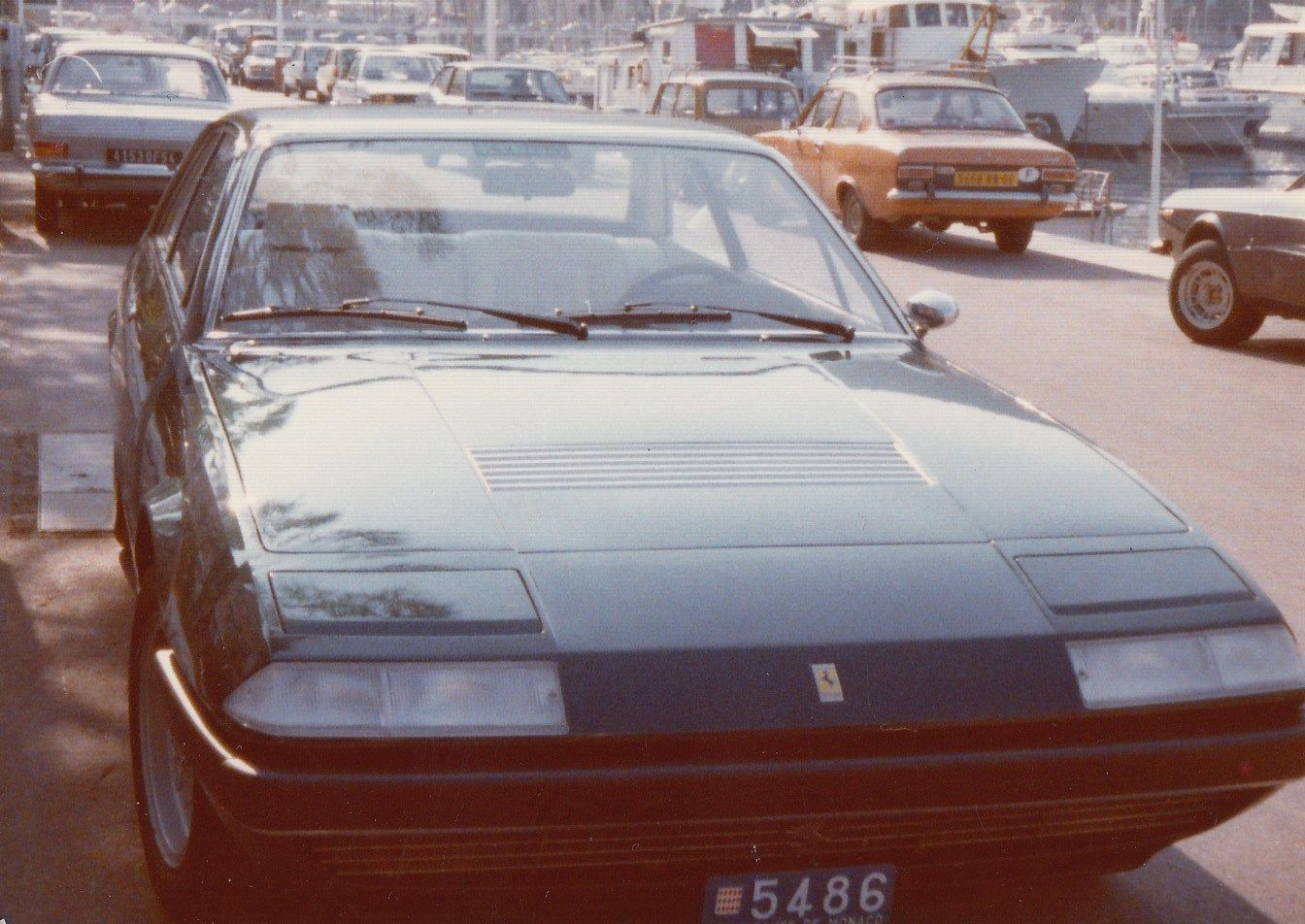 Ferrari 400, 365 gt4 + 2, Monaco harbour in '77