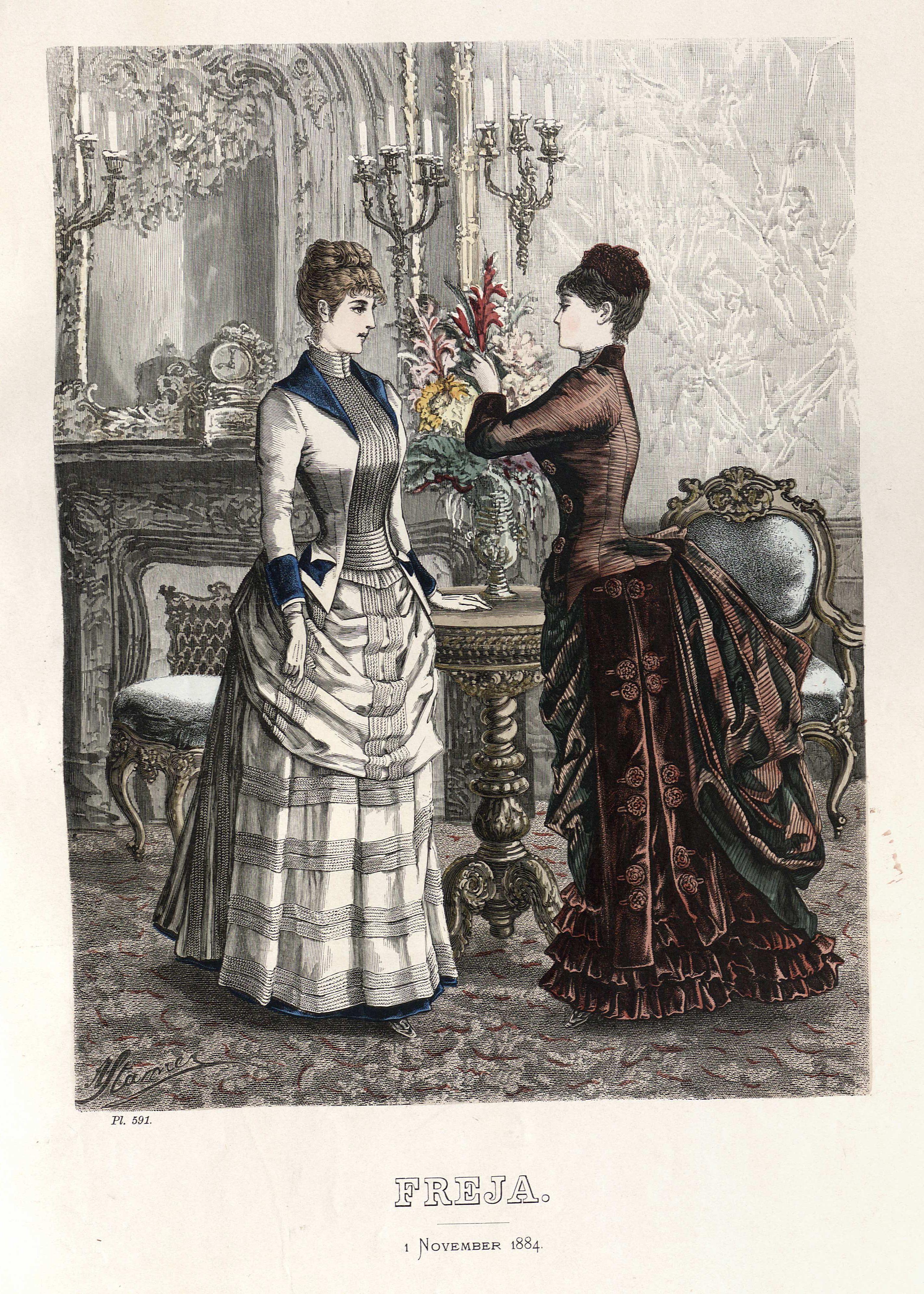 Freja 1884 #englishdresses1880