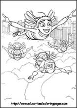 Bee Movie Coloring Pages Free For Kids