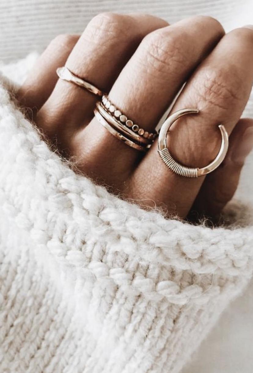 Photo of moon gold minimalist ring || dainty jewelry moon gold minimalist ring || dainty …
