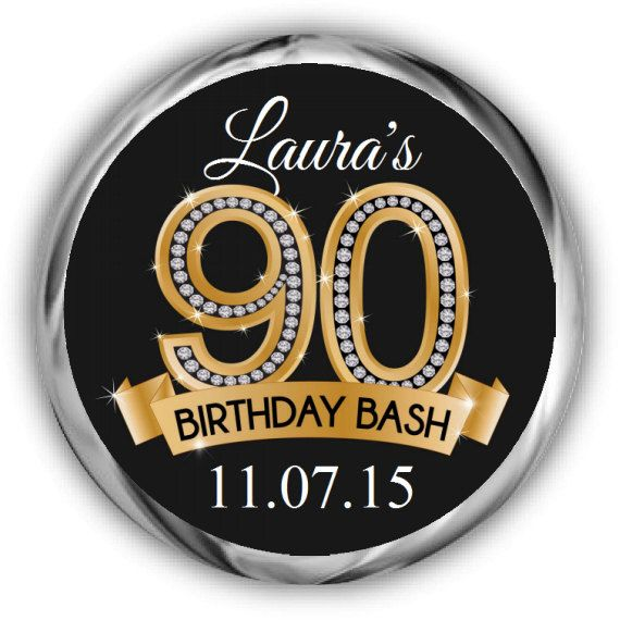 90th Birthday Stickers Personalized Birthday labels by ...