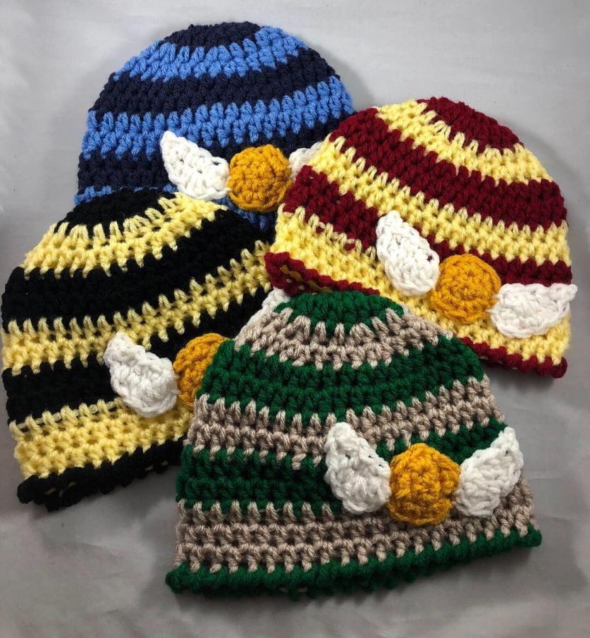Handmade Crochet Harry Potter Newborn Hats By Charleebelle S Harry Potter Crochet Crochet Hats Crochet Hat Pattern