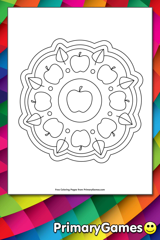 Apple Mandala Coloring Page • FREE Printable eBook in 2020