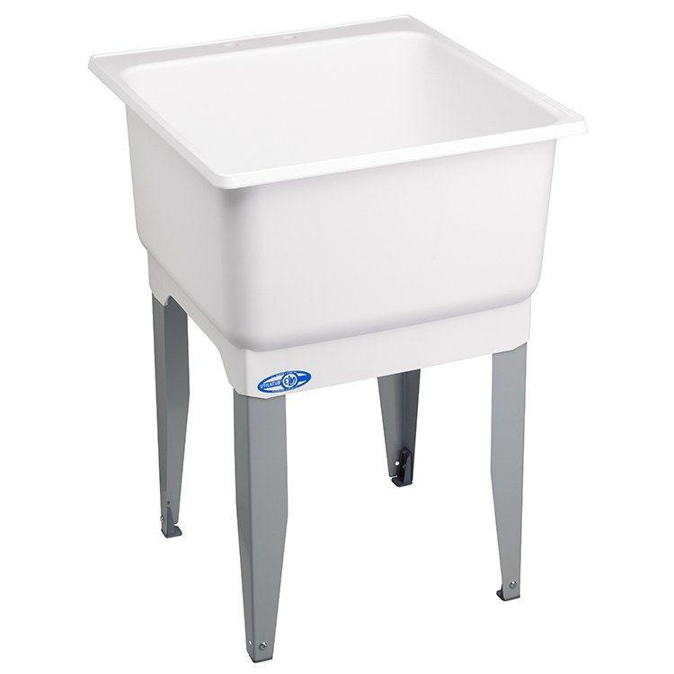 Mustee 14 Utilatub 23 W X 25 D Floor Mount Economy Laundry Utility