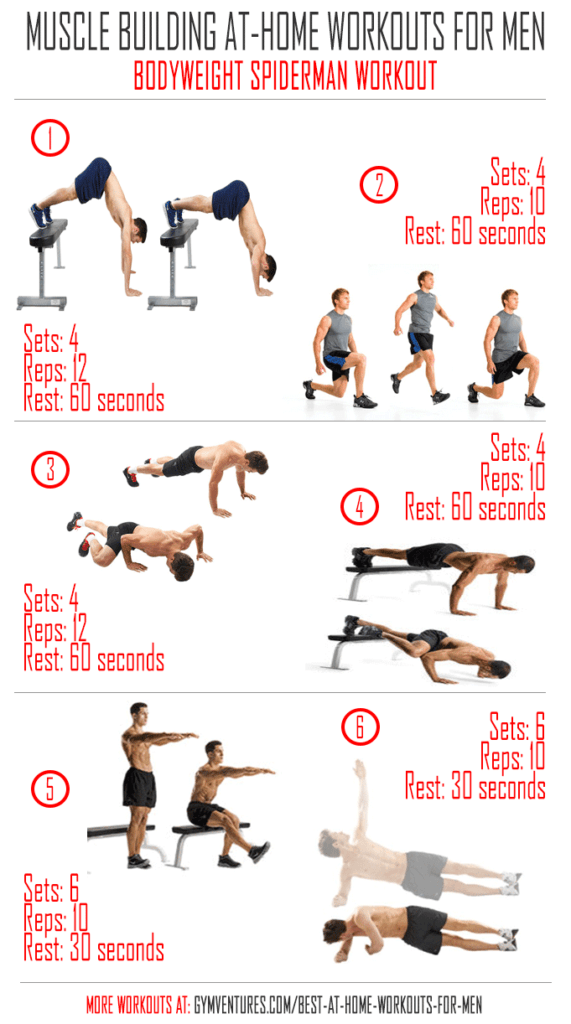At Home Workouts for Men Bodyweight-Spiderman-Workout ...