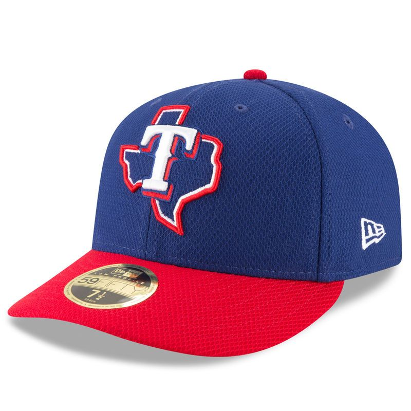 1f1f9f2ad Texas Rangers New Era Diamond Era 59FIFTY Low Profile Fitted Hat - Navy/Red  Texas