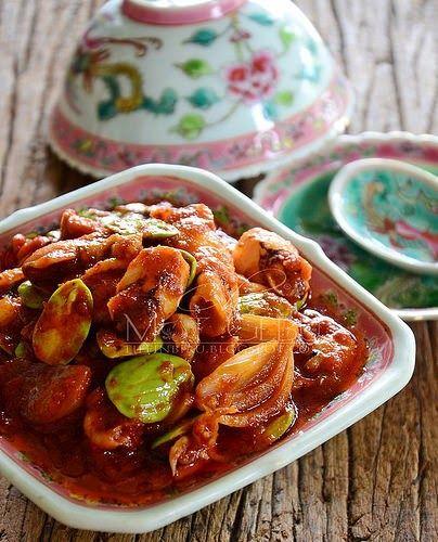 Sambal Tumis Sotong Petai Resep Masakan Malaysia Makanan Tumis