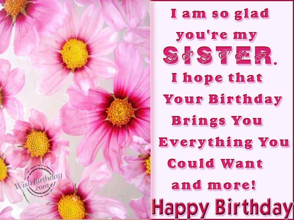 I am so glad youre my sister happy birthday happy birthday wishes i am so glad youre my sister happy birthday happy birthday wishes happy birthday kristyandbryce Gallery