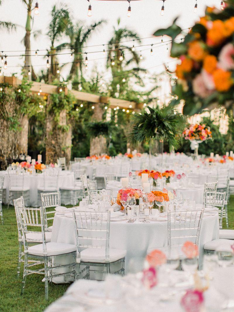 Naples Botanical Garden Wedding Tropical Reception