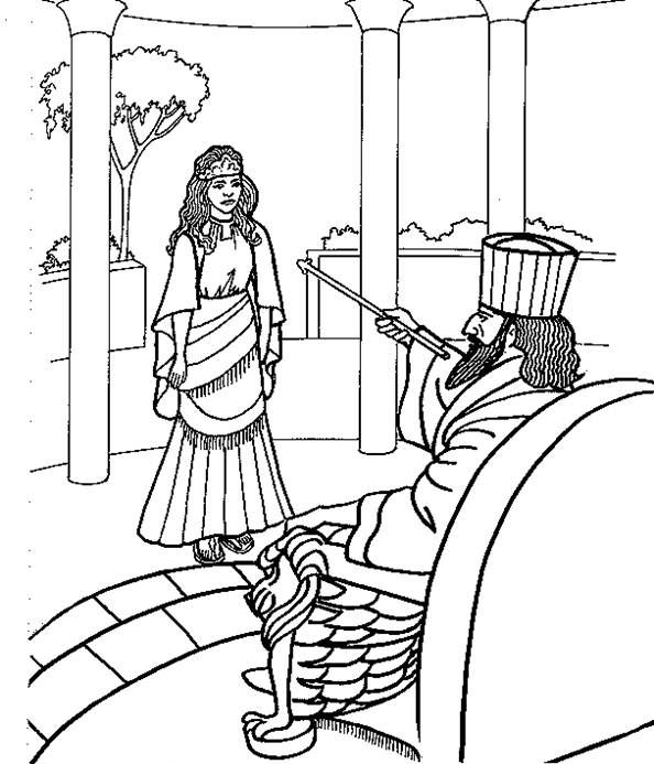 Coloring page of Esther | Biblical Holidays | Pinterest