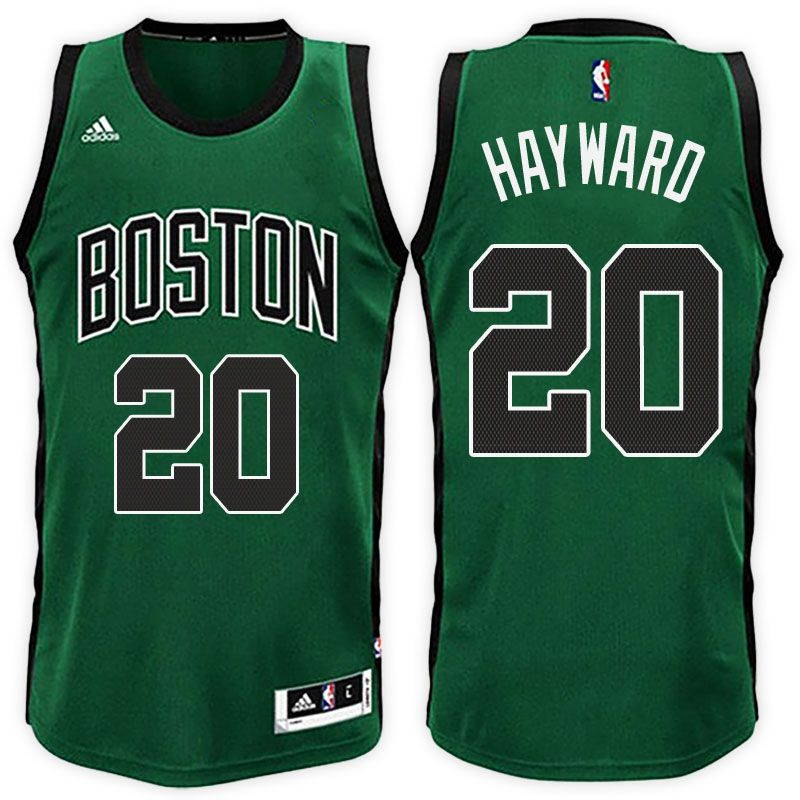 "86e8c5cab ""Boston Celtics  20 Gordon Hayward Road Green Black New Swingman Jersey    21"""