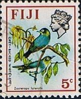 Postage Stamps Fiji 1971 Birds and Flowers Set Fine Used SG 437 Scott: 307 Other Fiji Stamps Here