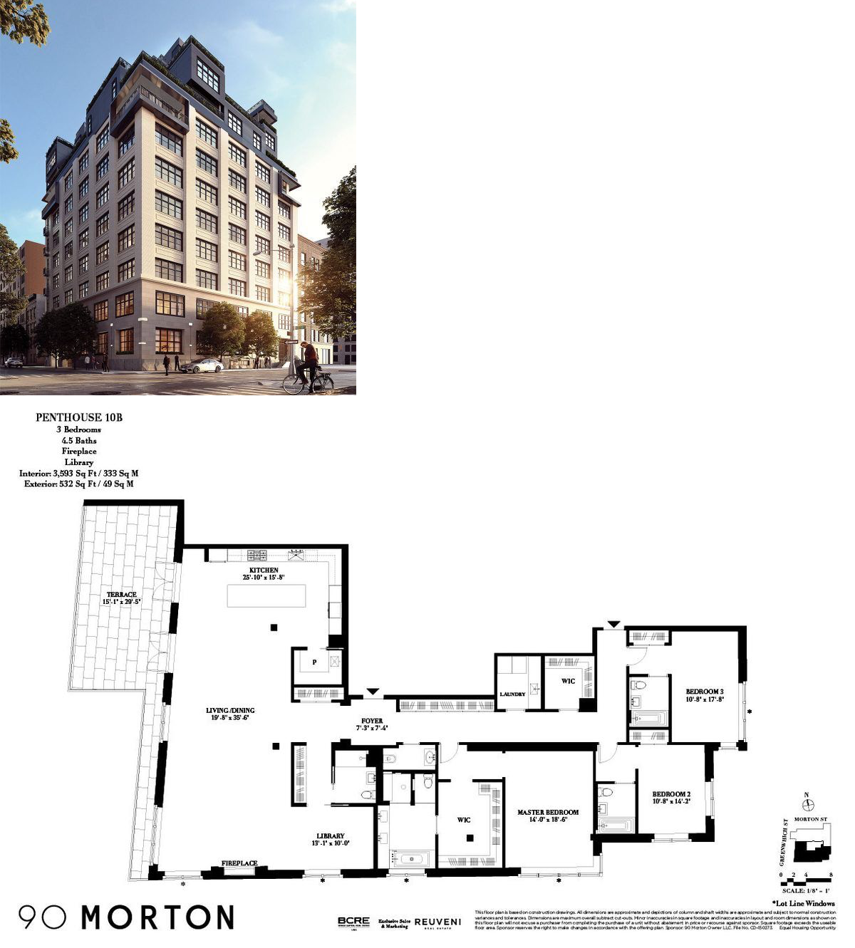 90 Morton Street Penthouse 10b This Is The Reinvention Of 90 Morton Street A Turn Of The Century Luxu Apartment Floor Plans Floor Plans New York Apartments