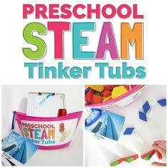 Tinker Tubs: A Preschool STEM Activity - Preschool STEAM -