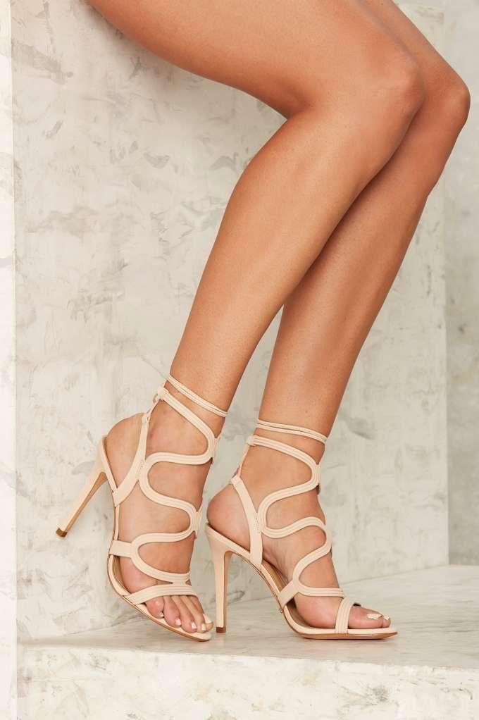 Schutz Lacie Leather Heel
