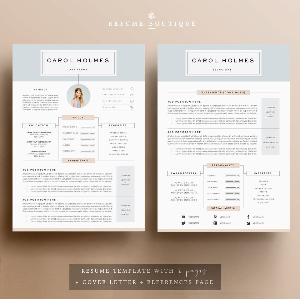 5 page resume template and cover letter   references template for word