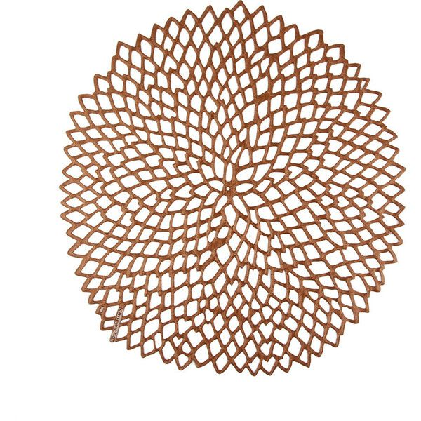 Chilewich Pressed Vinyl Dahlia Round Placemat Rose Gold Lace Placemats Flower Placemats Woven Placemats