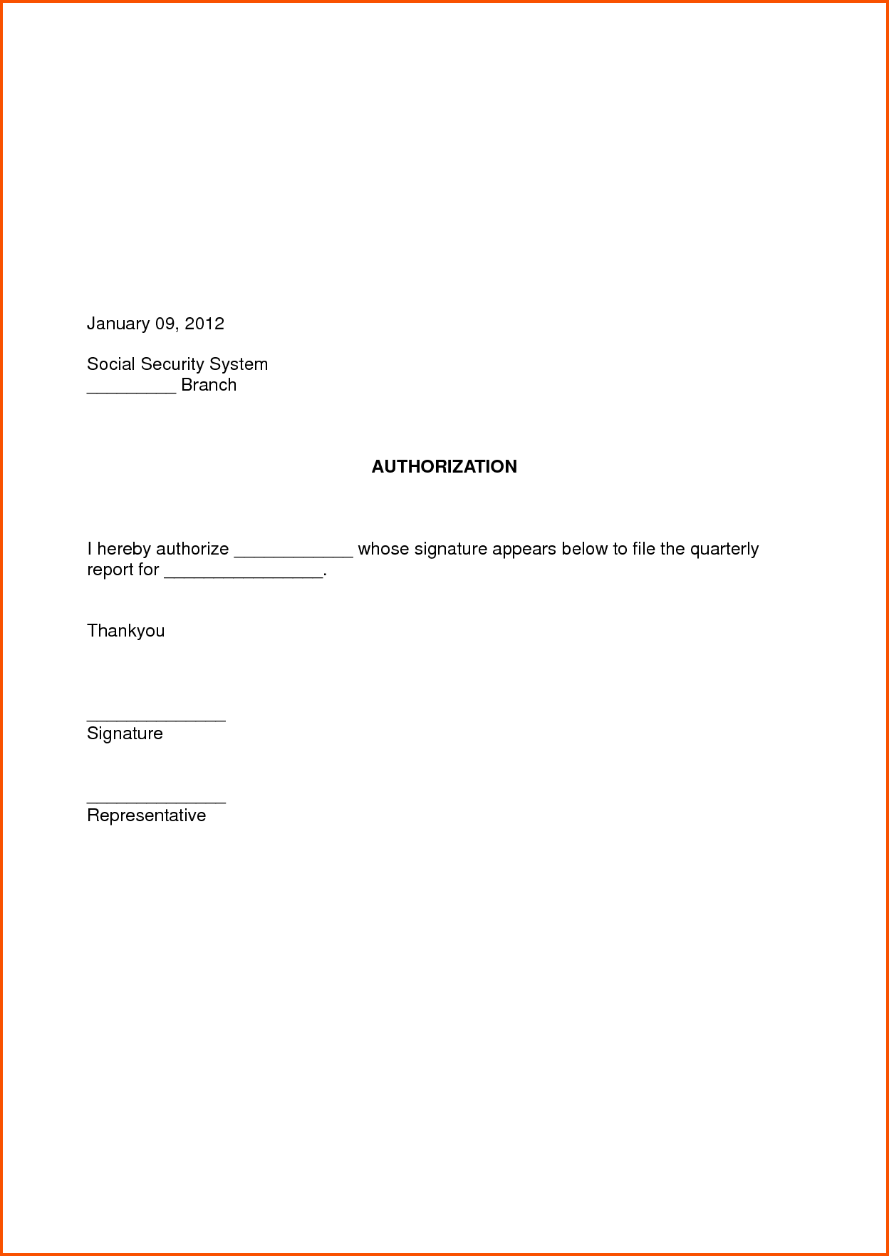 Authorization Letter Format Survey Template Example The Best Sample