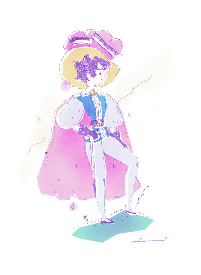 princess knight, princesa caballero, tezuka, illustration, ilustración