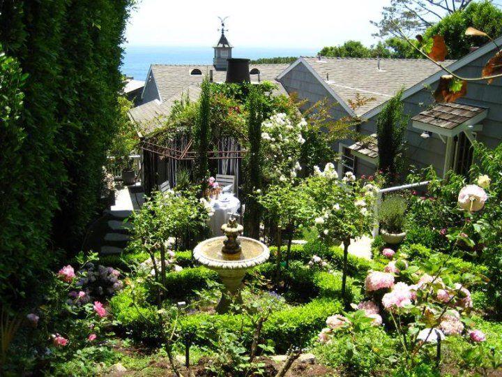 European Garden Design   Laguna Beach Cottage Garden.