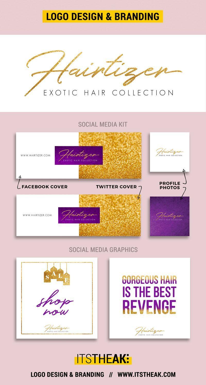 premade logo design templates social media kit social media