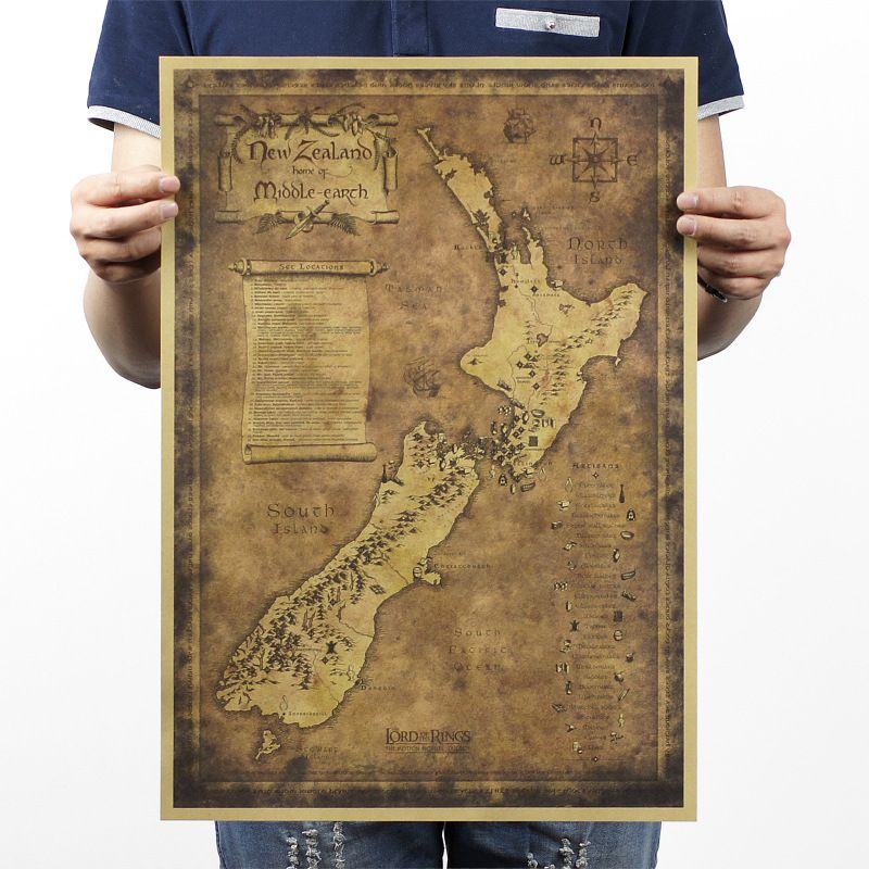 51x36cm mysterious old map of new zealand paiting large vintage 51x36cm mysterious old map of new zealand paiting large vintage style retro paper poster home decoration gumiabroncs Image collections