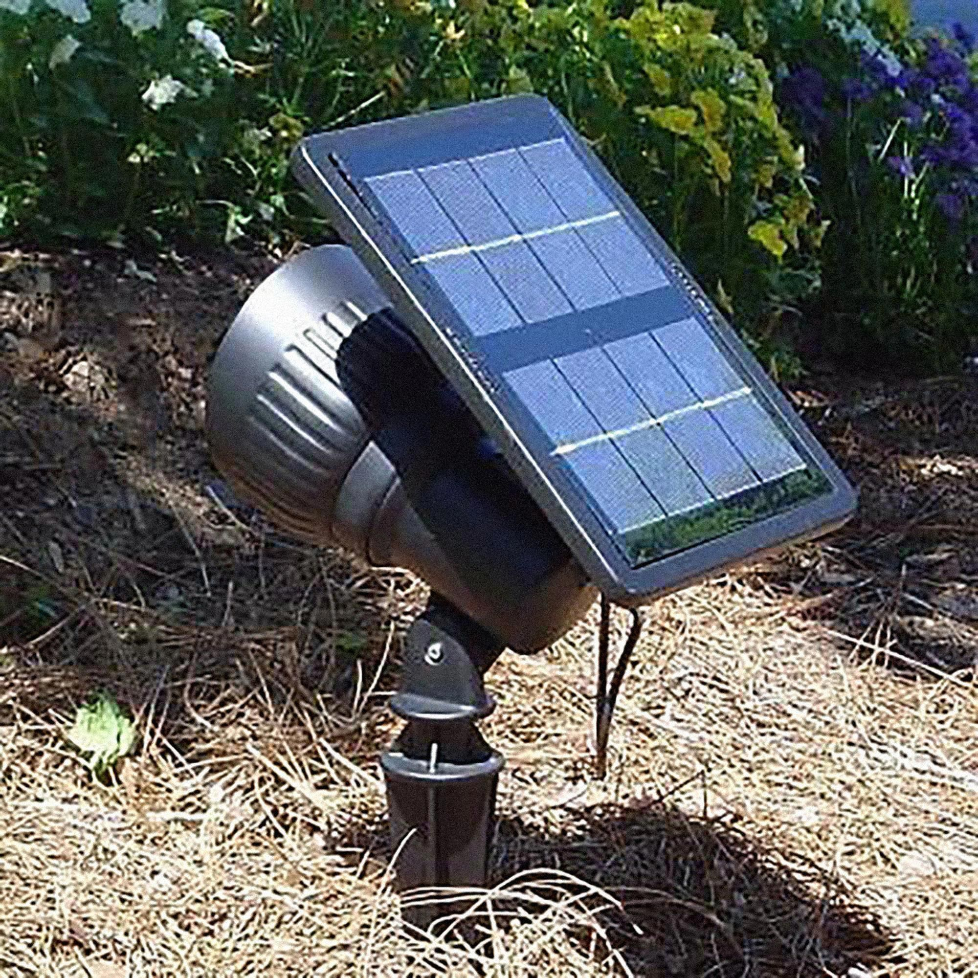 Progressive Solar Powered Led Spotlight Or Floodlight Landscapelighting Outdoorlightinglandscape Ga In 2020 Solar Spot Lights Solar Landscape Lighting Solar Lights