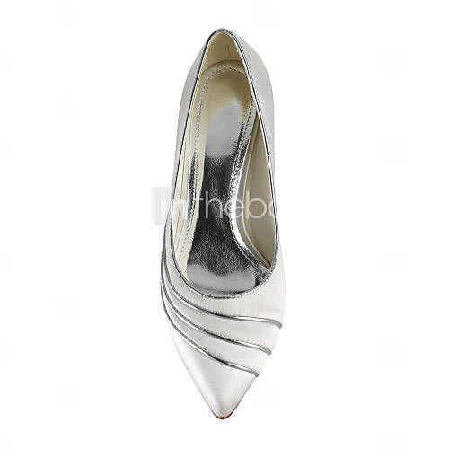 cetim de salto gatinho pontudas dedo do pé / fechado toe sapatos do casamento (mais cores)