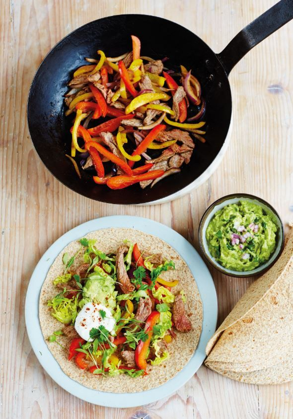 Rainbow steak fajitas for the receipe click this link httpswww recipes forumfinder Images