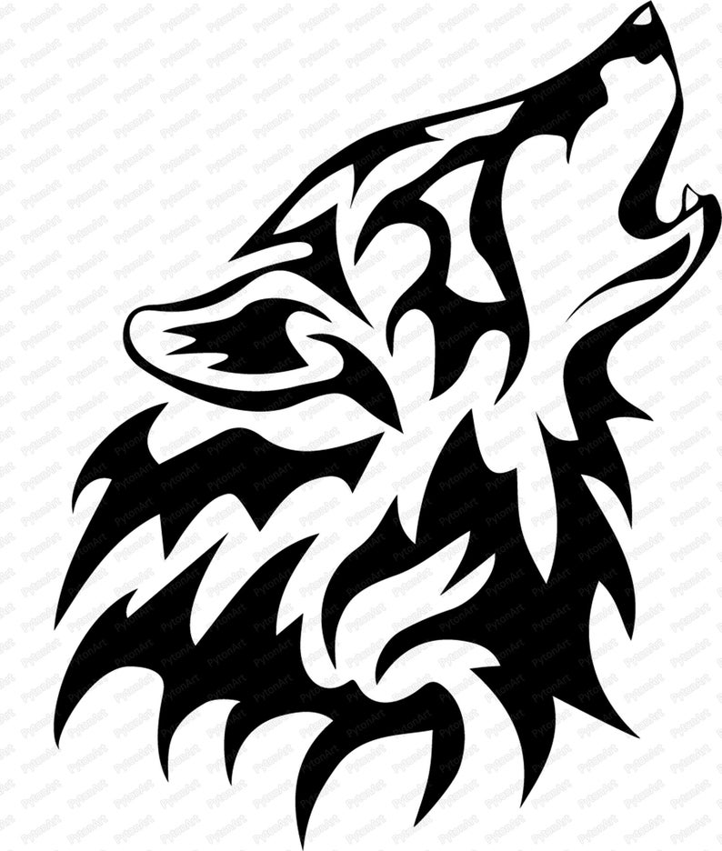 Wolf Head Svg Wolf Vector Wolf Png Wolf Figure Wolf Head Etsy Wolf Silhouette Tribal Wolf Wolf Head Drawing