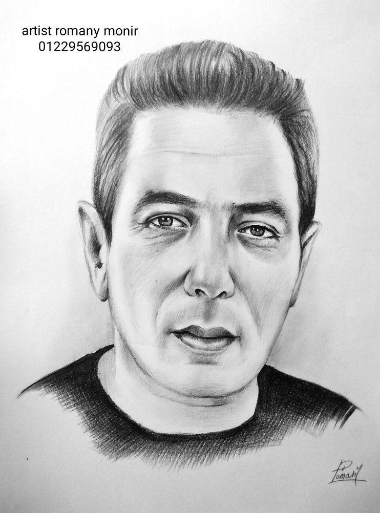 رسم بورتريه في مول العرب Art Male Sketch Male