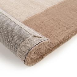 Photo of Benuta Wollteppich New Frame beige 160×230 cm – Naturfaserteppich aus Wolle Benuta