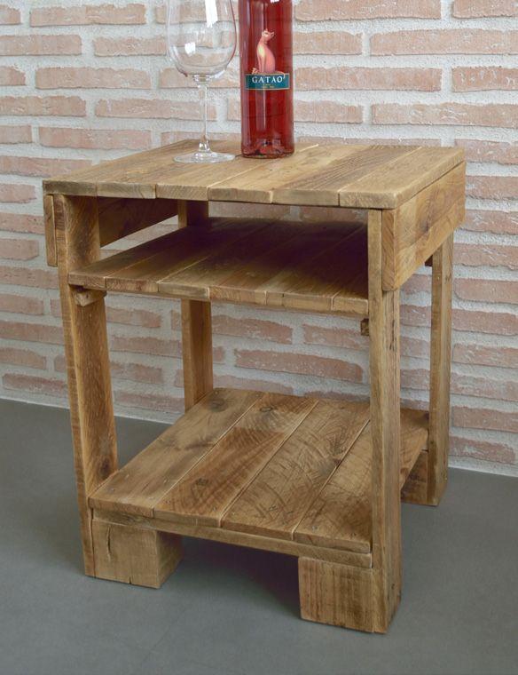 Mesa de luz con palets pallets pinterest pallets - Como hacer una mesa con palets ...