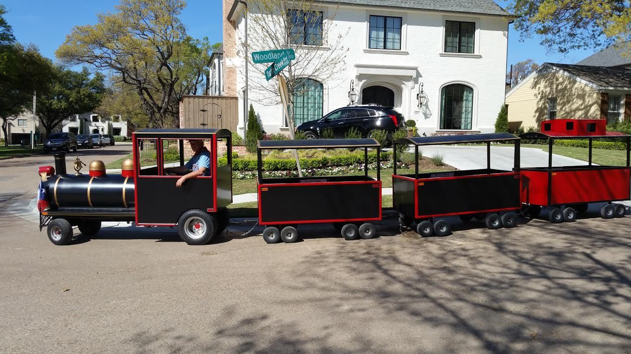 Childrens party train rental trackless train kids