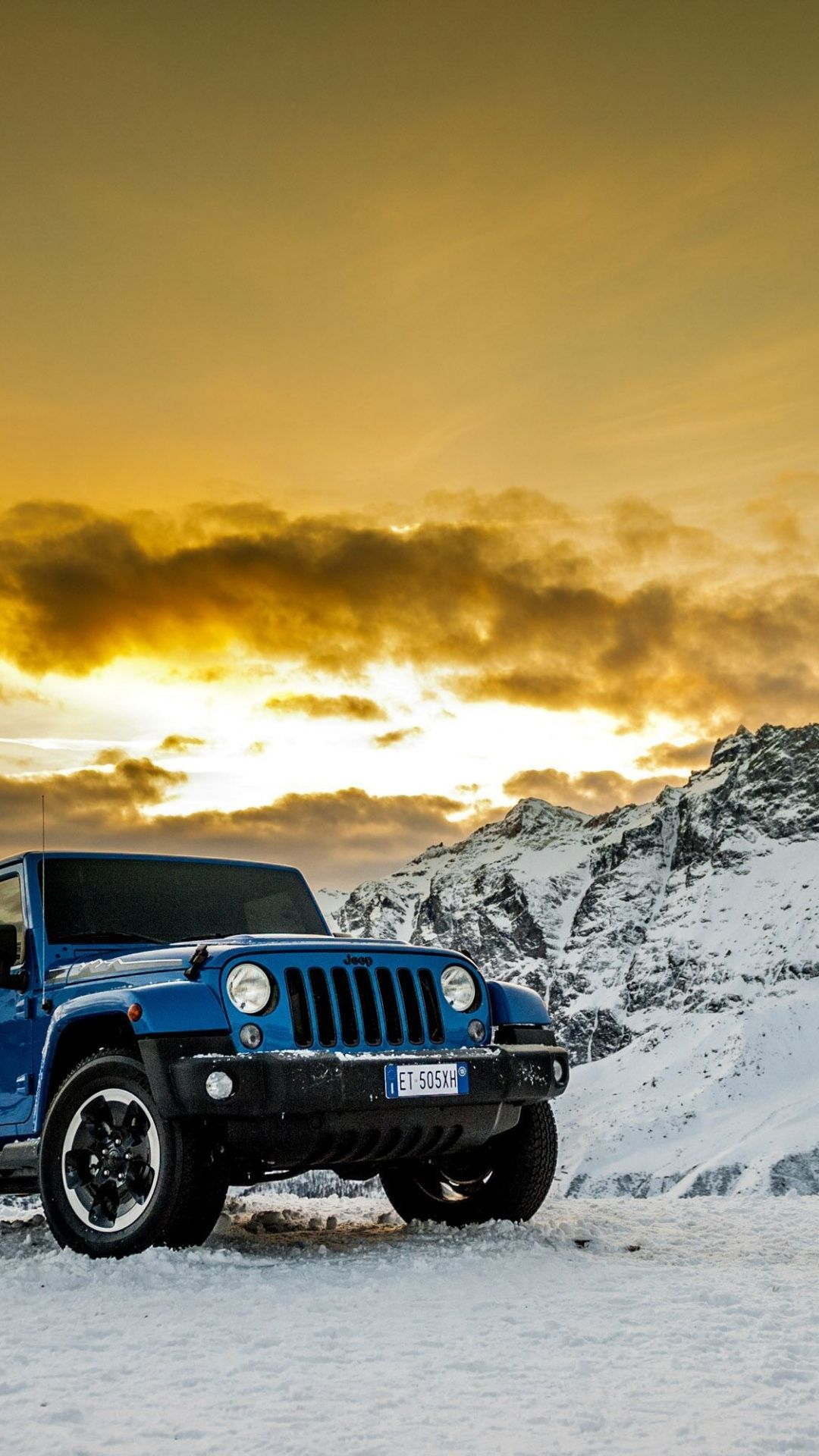 Blue Jeep Wrangler Off Road 1080x1920 Wallpaper Jeep