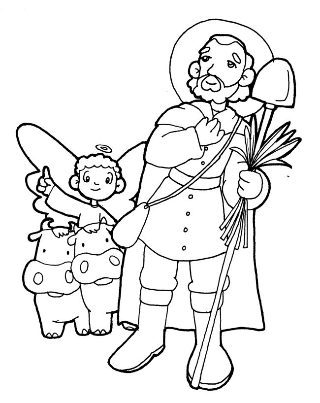 SAN ISIDRO LABRADOR para pintar.   święci patronowie   Catholic