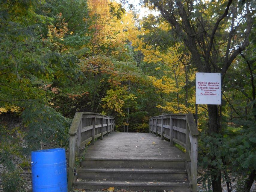 A foot bridge over Cascade Creek. Garden bridge