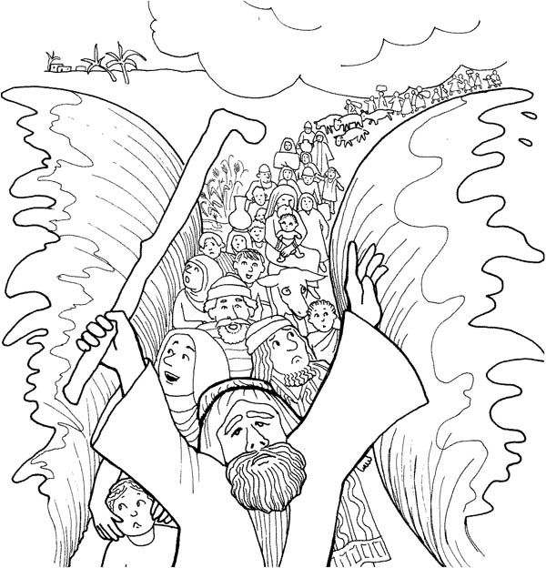 Coloring Click The Israelites Cross Red Sea Pages To View Printable Version Or Color It Online Compatible With IPad And Android Tablets