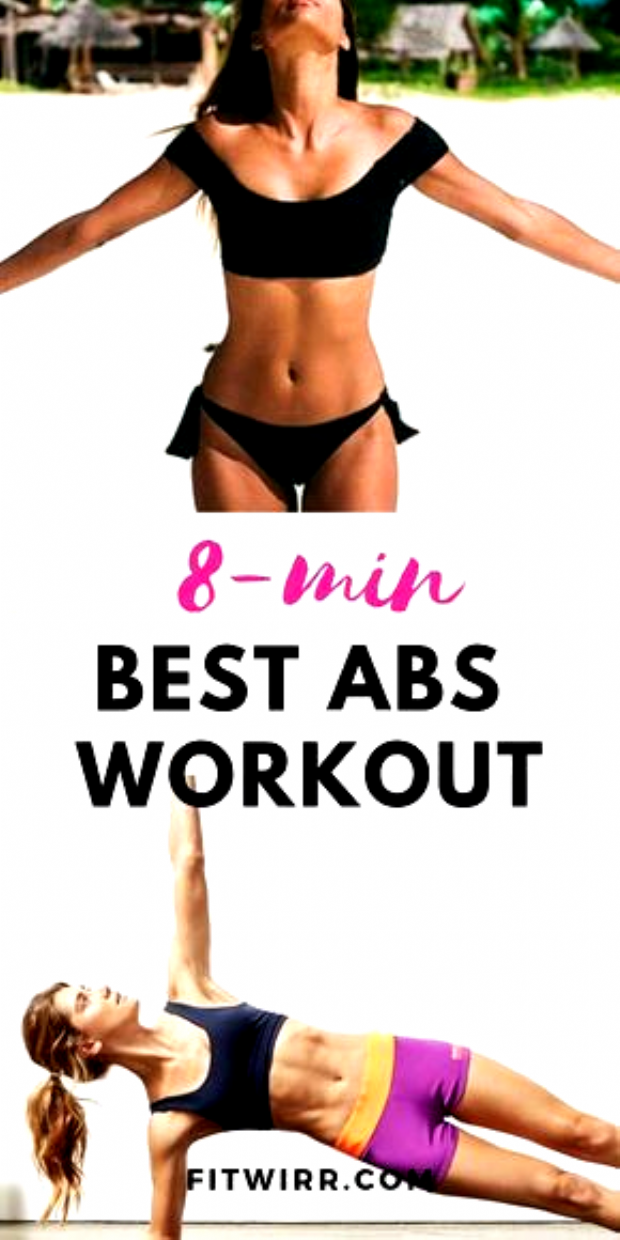 8-minute best abs workout to tone the stomach and define the abs. This abs toning workout is home fr...