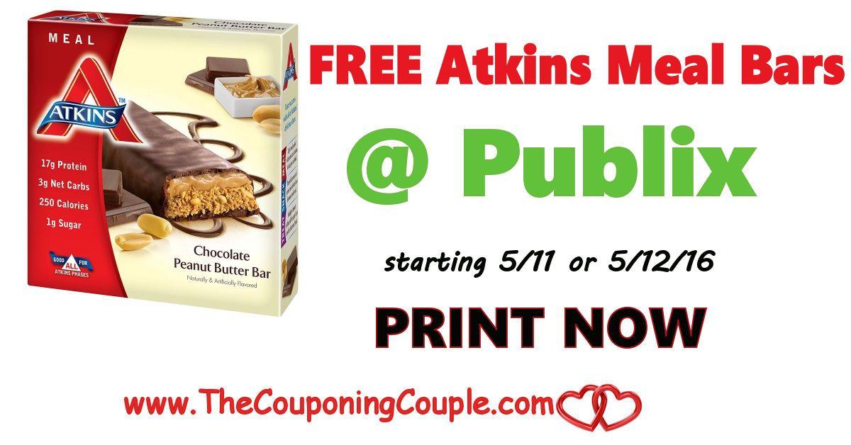 FREE Atkins Meal Bars @ Publix starting 5/12 #atkinsmeals