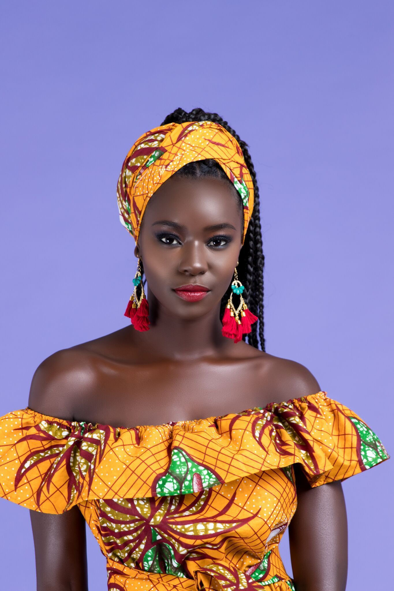 African Print Ouma Headwrap #africanbeauty