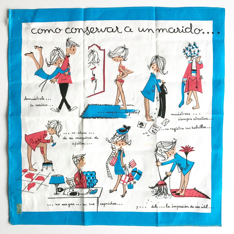 Towel Rack In Spanish: Vintage Kitchen Towel Spanish Boada Happy Marriage How To