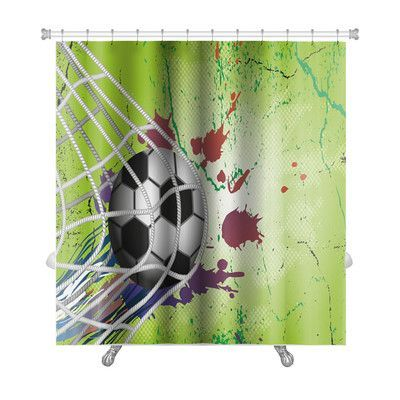 Gear New Soccer Soccer Ball Premium Single Shower Curtain