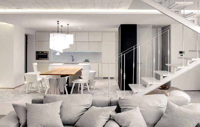 Modernes duplex apartment von form bureau innendesign