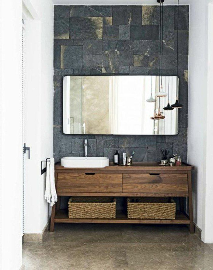 holz waschtischplatte 21 gestaltungsideen f r angenehmes ambiente pinterest. Black Bedroom Furniture Sets. Home Design Ideas